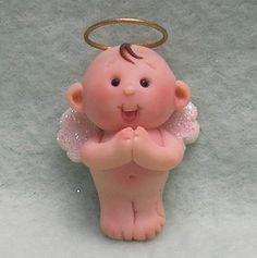 *POLYMER CLAY ~ Cute Angel Baby Magnet.