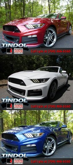 Red, White and Blue ROUSH Mustangs for Sale - Choose Yours at http://tindolford.com/custom/roush-mustang-for-sale.