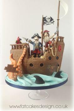 birthday pirate ship cake