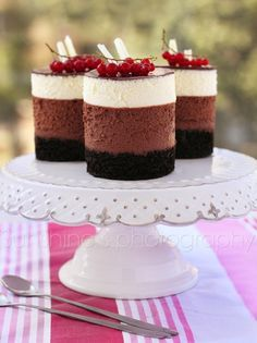 Triple Chocolate Mousse Cakes