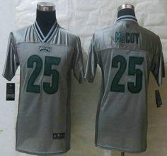 Nike Philadelphia Eagles Jersey 25 LeSean McCoy 2013 Gray Vapor Elite Youth Jerseys