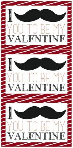 We Heart Parties | Free Printable Mustache Valentines www.weheartparties.com