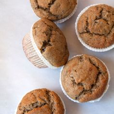 Rye flour not only adds a lot of flavor to a muffin recipe but its also a great way to introduce a healthy whole grain into your diet. Flour Recipes, Baking Recipes, Snack Recipes, Snacks, Delicious Recipes, Healthy Cake, Healthy Desserts, Healthy Recipes, Flours Banana Bread