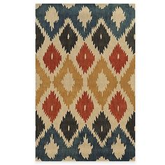 The Bradberry Downs Ikat Diamonds Rug from Rizzy Home is hand tufted by skilled artisans in India using New Zealand Wool. Featuring an alluring design in unique colors, this durable rug makes a bold style statement in any room of your home.