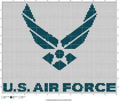 Air force logo x-stitch