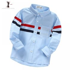 Online Shop Classic Striped Full Sleeve Casual Years Old Turn-down Collar White Blue Boys Blouses Kids Shirts 1908 Boys Summer Outfits, Baby Boy Outfits, Kids Outfits, Baby Shirts, Boys T Shirts, Casual Dress Code For Men, Baby Boy Dress, Stylish Boys, Baby Boy Fashion