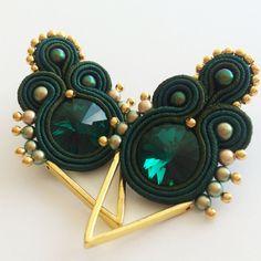 Suere sutazo auskarai / Soutache earrings