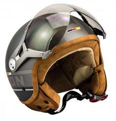 SOXON SP-325 PLUS Titanium Jethelm Jet Sport Retro Roller Helm silber Gr. XS S M L XL