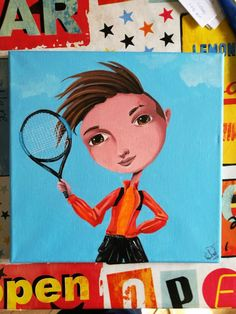 #young #tennisplayer a sweet #christmaspresent I was commissioned