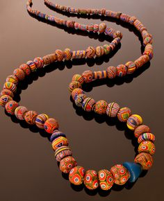 Strand of Kiffa beads. Thomas Stricker collection~