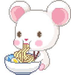 pixel art noodles gif | WiffleGif