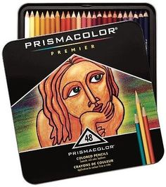 NEW Artist Quality 48 Prismacolor Premier Colored Pencil Set in Tin Cool Drawings, Pencil Drawings, Artist Pencils, Mandala, Drawing Letters, Coloured Pencils, Drawing Artist, Bible Art, Simple Sketches