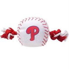 Philadelphia Phillies Baseball Rope Dog Toy