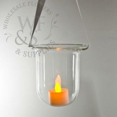 d200c086da6 Clear Glass Hanging Votive Holder - Tall and Skinny