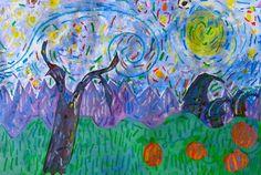 """Van Gogh Fall Landscape"" - 1st grade"