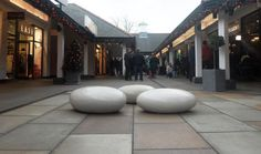 Three Pebbles at Cheshire Oaks by Anthony Parkes