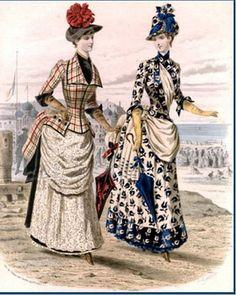 Deux robes de promenade (bord de mer)