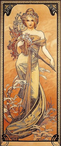 The Seasons: Spring Alphonse Mucha