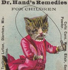 Dr Hands Teething Lotion Children Colic Cure Cat Jumprope Worm Tonic Trade Card photo