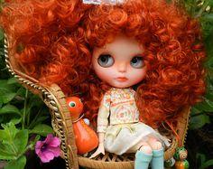 OOAK Blythe doll Alice , unique custom Blythe doll by malinkaartz