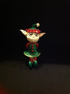 A little polymer clay Christmas elf I made
