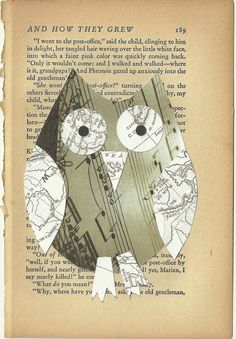 Funky Musical Owl original collage @ PaperPetite.etsy.com