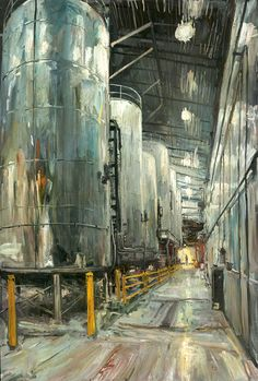 The amazing work of Donald Yatomi, this painting will soon hang at the Deschtues Brewery Pub in Bend, OR.