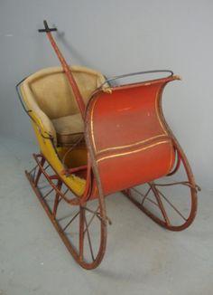 childs antique sleigh