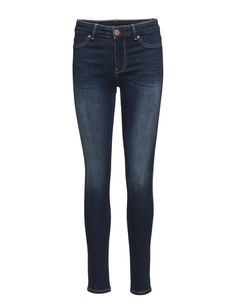 DAY - Jolie Midnight Button and zip closure Slight stretch Subtle fading Topstitching detail Slim fit Classic Sophisticated Jeans Indigo, Online Shopping, Closure, Slim, Button, Detail, Day, Jeans, Classic