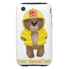 O sapador-bombeiro bonito caçoa a mascote dos capinhas para iPhone 3 tough