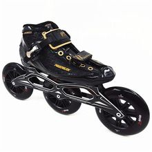 US $211.20 Professional carbon patins Power skate 3x125mm wheel inline speed skates speed skating roller skates shoes C4 best carbon shell. Aliexpress product