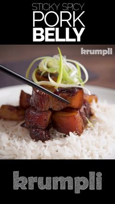 This delicious twice cooked pork belly recipe is simply stunning, that rich pork with the fresh sweet and sour pineapple is a match made in heaven! Asian Pork Belly Recipes, Pork Recipes, Indian Food Recipes, Asian Recipes, Cooking Recipes, Healthy Recipes, Hawaiian Recipes, Cooking Food, Chinese Pork Belly Recipe