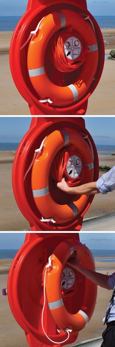 Guardian™ Lifebuoy Housing (Ropemaster™ - Quick Release Rope Management System saves valuable seconds for rescue attempts) Water Rescue, Lifebuoy, Water Safety, Storage Containers, Management, The Unit, Design, Products, Storage Bins