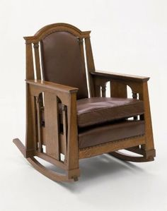 Rocking chair, about 1912 Designed by George Washington Maher