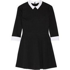 Alice + Olivia Textured-knit mini dress (570 BRL) ❤ liked on Polyvore featuring dresses, black, loose fitted dresses, alice olivia dress, loose dresses, short loose dresses and loose fitting dresses