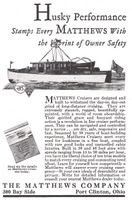 Matthews Cruisers 1930 Ad Picture