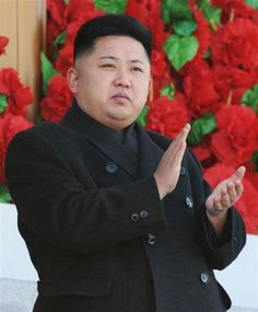 Leader of North Korea - Kim Jong Un    Betcha he didn't miss any meals during The Arduous March, Part Deux