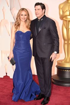 Pin for Later: Prepare to Be Dazzled by This Year's Oscars Red Carpet! John Travolta and Kelly Preston