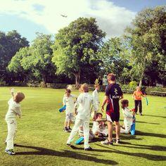 Junior cricket coaching clinic