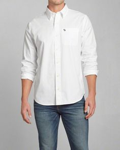 Abercrombie and Fitch men's twill button shirt