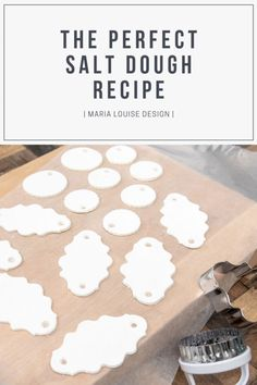 The Perfect Salt Dough Recipe Maria Louise Design Happy New Year Homemade Christmas, Diy Christmas Gifts, Christmas Projects, Kids Christmas, Holiday Crafts, Fun Crafts, Crafts For Kids, The Rainbow Fish, Salt Dough Crafts