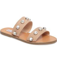 22aa9f2b7 Steve Madden Jessy Embellished Slide Sandal (Women) at Nordstrom.com.  Bejeweled straps