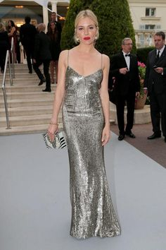 Sienna Miller in Ralph Lauren at the Cannes 2015 AmFAR gala