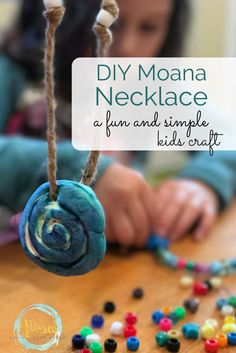 This simple Moana necklace was a really fun Mommy and Me craft for my daughter and I to do together. This simple Moana necklace was a really fun Mommy and Me craft for my daughter and I to do together. Disney Diy, Disney Crafts For Kids, Easy Crafts For Kids, Summer Crafts, Diy For Kids, Diy And Crafts, Simple Crafts, Disney Theme, Kids Fun