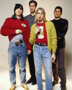 Nirvana photographed by Youri Lenquette in Paris, February 1994