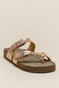 29796c4a33b7fb Madden Girl Metallic Strappy Footbed Sandal Sandals Outfit
