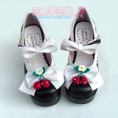 Strawberry Bow Lolita Heels