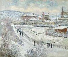 Veduta di #Argenteuil sotto la neve