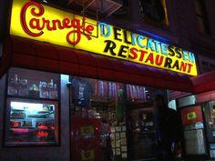 Front of the legendary Carnegie Deli in New York.