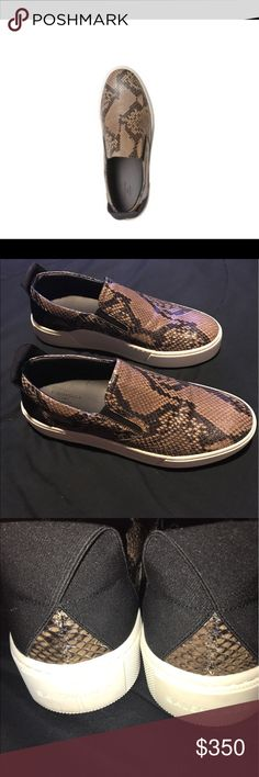 Men's Balenciaga  python (snake skin)  Slip on's Authentic, Like new worn once. Men's Balenciaga Python slip on sneakers size 9 Balenciaga Shoes Sneakers